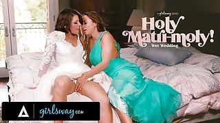 GIRLSWAY – Abigail Mac Made Bride Adriana Chechik Squirt A Lot